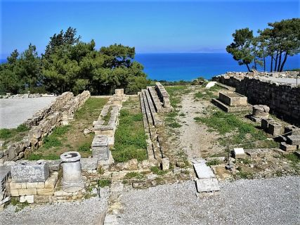 Ancient Kamiros, Hellenistic Sanctuary, Cruise excursions Greek isles