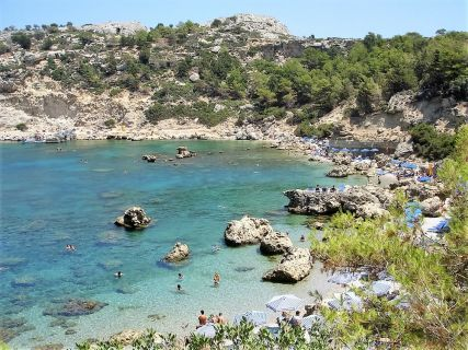 Anthony Quinn beach in Rhodes Greece