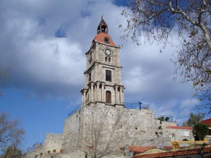The clock tower, Private Tours in Rhodes Greece
