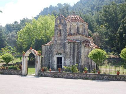 Byzantine Church of St Nicholas Fundukli, cruise shore excursions in Rhodes Greece