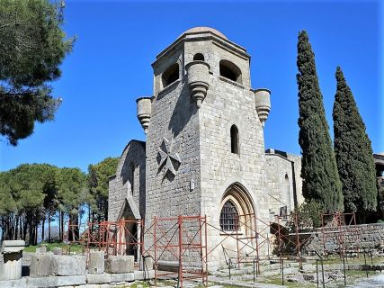 The church of our lady of Filerimos in Rhodes Greece
