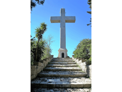 Filerimos Cross in Rhodes Greece