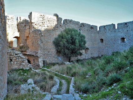 Interior of the Kritinia Castle, Rhodes Private Tours