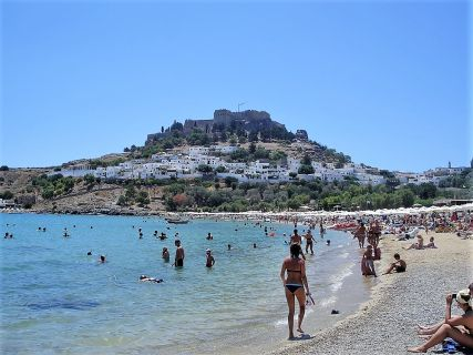 The Main Beach of Lindos Village