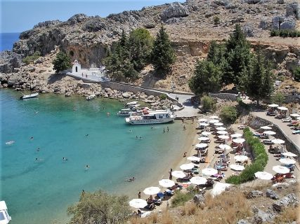 Beach of St Paul's in Lindos
